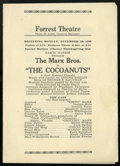 """Movie Posters:Comedy, The Cocoanuts (Sam H. Harris, 1925). Stage Play Program (6"""" x 8.5"""",Folded-Out).Comedy...."""