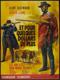 "Movie Posters:Western, For a Few Dollars More (United Artists, R-1970s). French Grande(46"" X 62""). Western...."