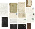 Military & Patriotic:Civil War, Late War Archive Pertaining to Massachusetts Infantry Lieutenant.... (Total: 2 Items)