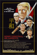 "Movie Posters:War, Merry Christmas, Mr. Lawrence (Universal, 1983). One Sheet (26.5"" X39.5"") and Lobby Card Set of 8 (11"" X 14""). War.... (Total: 9Items)"