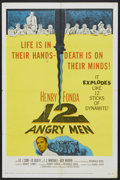 "Movie Posters:Drama, 12 Angry Men (United Artists, 1957). One Sheet (27"" X 41"").Drama...."