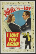 """Movie Posters:Comedy, I Love You Again (MGM, 1940). One Sheet (27"""" X 41"""") Style D.Comedy...."""