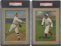 Baseball Cards:Lots, 1911 T3 Turkey Red Cabinets PSA-Graded Pair (2).... (Total: 2 cards)