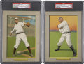 Baseball Cards:Lots, 1911 T3 Turkey Red Cabinets PSA-Graded Pair (2).... (Total: 2cards)