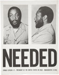 "Memorabilia:Poster, Dick Gregory ""Needed"" Poster (circa 1969)...."