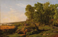 Fine Art - Painting, Russian:Modern (1900-1949), MIKHAIL SPIRIDONOICH ERASSI (Russian, 1823-1898). Pastoral Landscape. Oil on canvas. 17 x 25-1/4 inches (43.2 x 64.1 cm)...