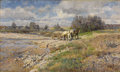 Fine Art - Painting, Russian:Antique (Pre-1900), WILHELM VELTEN (Russian, 1847-1929). The Horse Drawn Cart,1882. Oil on canvas. 13-1/4 x 22 inches (33.7 x 55.9 cm). Sig...