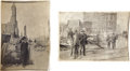 Miscellaneous:Ephemera, Archive of 1906 San Francisco Earthquake Photographs,... (Total: 30Items)