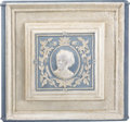 Political:3D & Other Display (pre-1896), Horatio Seymour: Unique Cast-Iron Stove Panel Featuring a HighRelief Portrait of the 1868 Democratic Presidential Nominee. ...