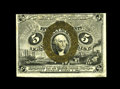 Fr. 1235 5c Second Issue Choice About New. The bronze oval has been placed neatly over the portrait on this note that ha...