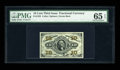 Fractional Currency:Third Issue, Fr. 1255 10c Third Issue PMG Gem Uncirculated 65 EPQ. The back centering is a touch off, but the face margins are quite even...