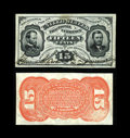 Fractional Currency:Third Issue, Fr. 1275SP 15¢ Third Issue Narrow Margin Pair Very Choice New. There is a minor stain at the top center of the face on this ... (Total: 2 notes)