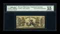 "Fractional Currency:Third Issue, Fr. 1357 50¢ Third Issue Justice Inverted Back Engraving PMG About Uncirculated 55. PMG comments, ""Great Embossing, Vivid De..."