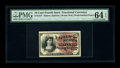 Fractional Currency:Fourth Issue, Fr. 1257 10c Fourth Issue PMG Choice Uncirculated 64 EPQ. Three huge margins on the front are matched with a thin one at lef...