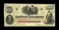 Confederate Notes:1862 Issues, T41 $100 1862. This is a bright, well embossed Scroll 2 $100 withwholesome edges and no pinholes. Very Fine....