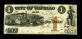 Obsoletes By State:Iowa, Wapello, IA- City of Wapello $1 Aug. 8, 1851 Oakes 109-11. Thispiece was actually produced as a proof and has one small pun...