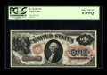 Large Size:Legal Tender Notes, Fr. 26 $1 1875 Legal Tender PCGS Superb Gem New 67PPQ. A hugelymargined example with ideal colors, and perfect printing qua...