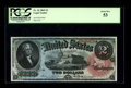 Large Size:Legal Tender Notes, Fr. 42 $2 1869 Legal Tender PCGS About New 53. From the standpointof appearance, this note is the match of the PCGS 68PPQ w...