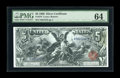 Large Size:Silver Certificates, Fr. 270 $5 1896 Silver Certificate PMG Choice Uncirculated 64. Over 650 $5 Educationals are known, but only 20% of them are ...