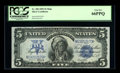 Large Size:Silver Certificates, Fr. 280 $5 1899 Silver Certificate Mule PCGS Gem New 66PPQ. Abroadly margined and brilliantly colored example of this secon...