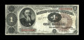 Fr. 348 $1 1890 Treasury Note Very Fine+. This is by far the rarest of the 1890 Treasury Aces, with only about 40 exampl...