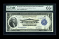 Fr. 708 $1 1918 Federal Reserve Bank Note PMG Gem Uncirculated 66 EPQ. The original embossing can be easily seen through...