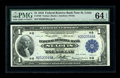 Fr. 730 $1 1918 Federal Reserve Bank Note PMG Choice Uncirculated 64 EPQ. A handsome $1 FRBN that has garnered the EPQ d...