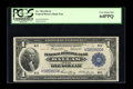Fr. 740 $1 1918 Federal Reserve Bank Note PCGS Very Choice New 64PPQ. A well embossed, strictly original near Gem exampl...