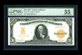 Large Size:Gold Certificates, Fr. 1172 $10 1907 Gold Certificate PMG About Uncirculated 55. Both the overprint and back printing are bright and most pleas...