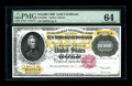 Large Size:Gold Certificates, Fr. 1225 $10000 1900 Gold Certificate PMG Choice Uncirculated 64. These non redeemable series 1900 Gold notes are relatively...
