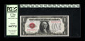 Fr. 1500 $1 1928 Legal Tender Note. PCGS Gem New 66PPQ. Natural paper ripple and embossing are seen through the PCGS hol...