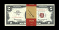Small Size:Legal Tender Notes, Fr. 1513 $2 1963 Legal Tender Notes. Fifty Consecutive Examples. Choice Crisp Uncirculated.. The bank band has been stamped ...