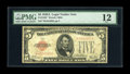 Small Size:Legal Tender Notes, Fr. 1526* $5 1928A Legal Tender Note. PMG Fine 12.. This is the scarcest of the non-mule red seal stars which should see str...