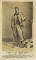 Military & Patriotic:Civil War, Carte de Visite of Francis E. Brownell, the Avenger of the Murder of Col. Ellsworth. Private Francis E. Brownell is ...