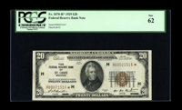 Fr. 1870-H* $20 1929 Federal Reserve Bank Note. PCGS New 62. According to the Jhon E. Cash Official Census of 1929 FRBN...
