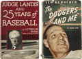 Autographs:Others, Hard Cover Baseball Books Signed....