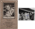 Baseball Collectibles:Photos, Mel Allen Sportscaster Hall Of Fame Plaque And Signed Photo....(Total: 2 lot)