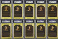 Autographs:Post Cards, Bobby Doerr Signed Gold Hall of Fame Plaques, PSA Authentic Lot of10. ...