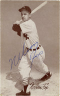 Autographs:Post Cards, Nellie Fox Signed Exhibit Card. ...