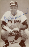 Autographs:Post Cards, Elston Howard Signed Exhibit Card....
