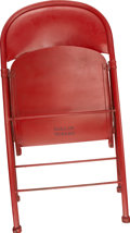 Football Collectibles:Others, Dallas Texans Locker Room Chair....