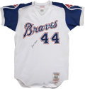 Autographs:Jerseys, Hank Aaron Signed Throwback Jersey....