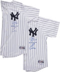 """Autographs:Jerseys, Jim Leyritz """"Last Home Run of the 20th Century"""" Signed Jerseys Lotof 2.... (Total: 2 items)"""