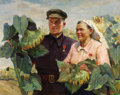 Fine Art - Painting, Russian:Contemporary (1950 to present), ELENA YAKOVENKO (Russian, b. 1914). Heroes of SocialistLabor, 1950. Oil on canvas. 38 x 47 inches (96.5 x 119.4 cm).Si...