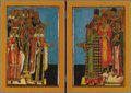 Other, A DIPTYCH of BOYARS AND PRIESTS . 19th century . 24 x 33-1/2 inches(61.0 x 85.1 cm). ...