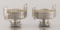 Decorative Arts, Continental:Other , A PAIR OF SILVER TWO HANDLED BOWLS. Karl Faberge, Moscow, Russia,1899-1908. Marks: 84 (left facing kokoshnik) (Assay ma...(Total: 2 Items)