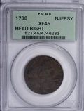 Colonials, 1788 COPPER New Jersey Copper, Head Right XF45 PCGS....