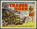 """Movie Posters:Adventure, Trader Horn (MGM, R-1953). Half Sheet (22"""" X 28"""") and Pressbook(Multiple Pages). Adventure.... (Total: 2 Items)"""