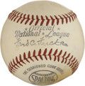 Baseball Collectibles:Others, Ford Frick Unsigned N.L. Baseball. ...