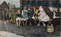 Fine Art - Painting, Russian:Contemporary (1950 to present), STANISLAV ALATOV (Russian, 20th Century). In the Village,1960. Oil on canvas. 25-1/2 x 42 inches (64.8 x 106.7 cm). Sig...
